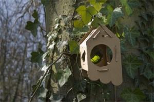 Duurzaam vogelhuisje