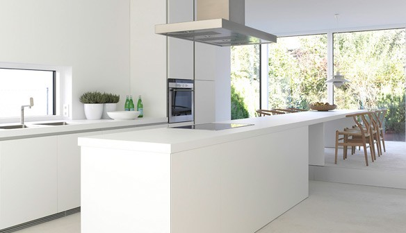 Compacte Design Keuken : White Modern Kitchen Design Ideas