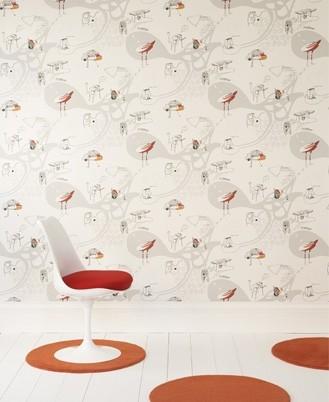 Milieuvriendelijk ecologisch duurzaam behang en behangpapier voor duurzaam en - Behang voor trappenhuis ...