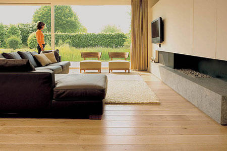 Houten Vloer In Woonkamer: Polished concrete kitchen floors.