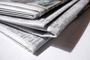 Oude krant schoonmaken