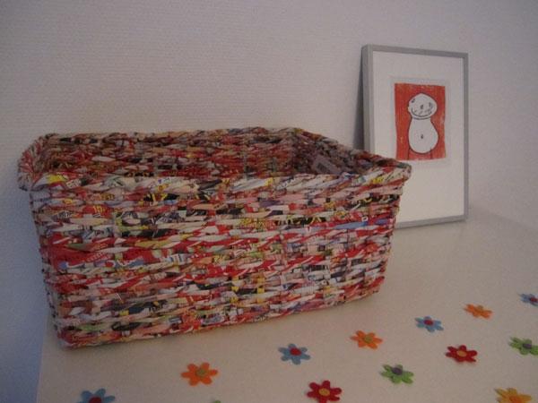 Mandjes van Recycled papier