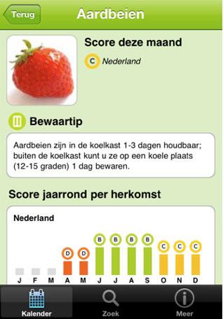 Groente fruit kalender app