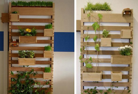 Slimme verticale tuin met regenton