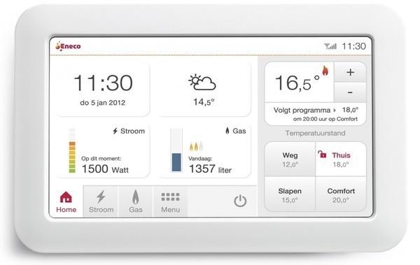 Toon thermostaat biedt actueel inzicht in energieverbruik