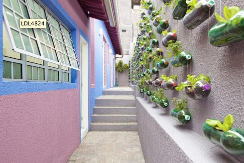 Duurzaam petfles tuin