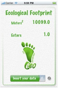 Ecological footprint app
