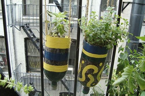 Hergebruik hanging garden