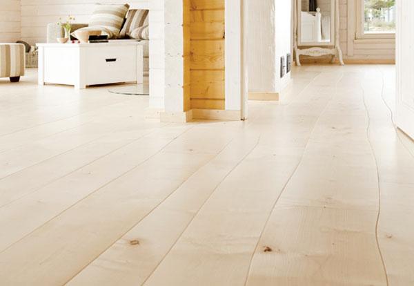 Duurzame houten vloer met natuurlijke vorm
