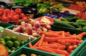 Duurzame groenten tas krat