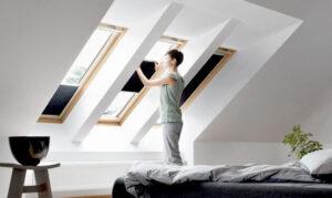 Energiebesparende dakraam gordijnen