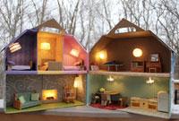 Karton poppenhuis licht duurzaam thuis duurzaam wonen for Poppenhuis bouwen