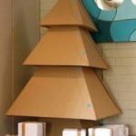 Kartonnen kerstboom diy