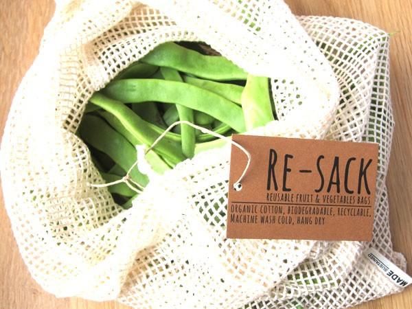 Re sack groente fruit alternatief plastic