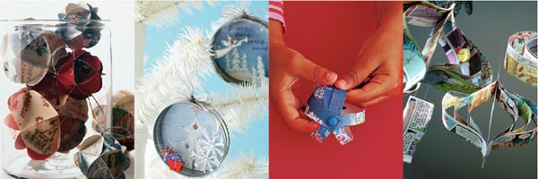 Kerstbal recycle papier
