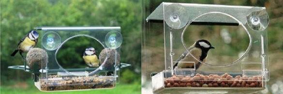 Vogels voederhuisjes winter