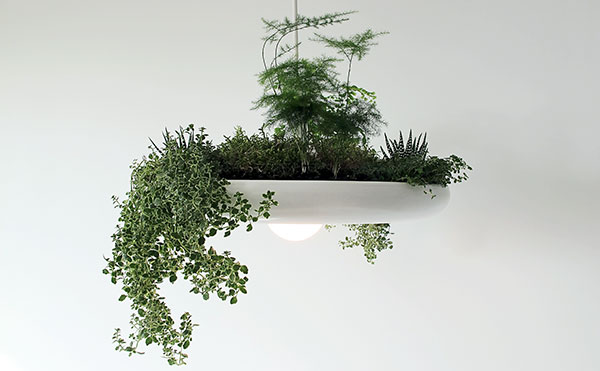 Luchtzuiverende hangende tuin lamp