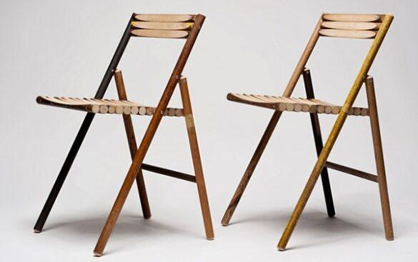 Klapstoel steel chair