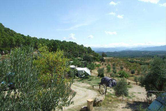 Camping in landschap