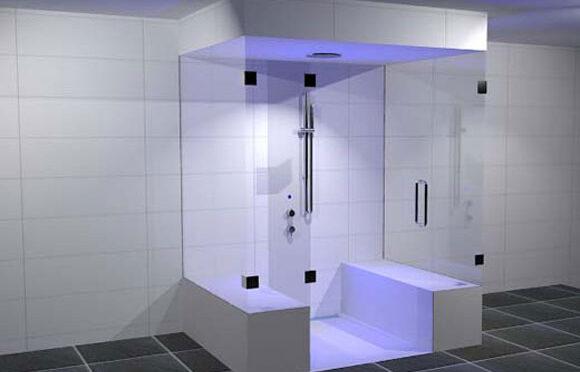 Upfall shower douche