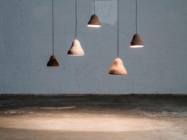Lampenkappen gemaakt van duurzaam zeegras