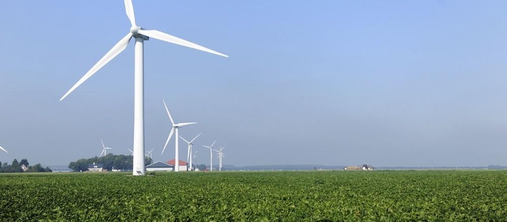 Groene energie windmolen in nederland stroom