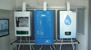 Waterstofketel huis op waterstof