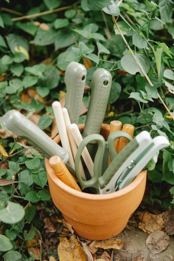 tuingereedschap duurzaam schoonmaken