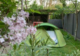 Kamperen in eigen tuin