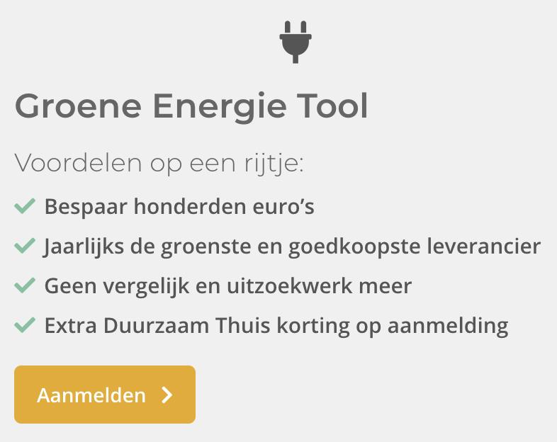 Groene energie tool duurzaam